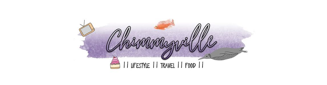 blog header for chimmyville.co.uk. a graphic with purple background and writing that says Chimmyville on it with illustrations of a tv, cupcake and fish