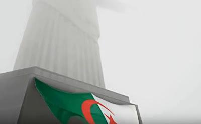 علم الجزائر في ريو ديجانيرو 2014
