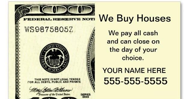 Blockbusting - We Buy Houses Business Cards