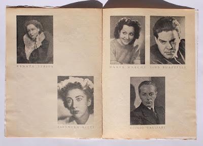 Compagnia Maltagliati-Gassmann: programma teatrale con autografi - collezionismo - annunci