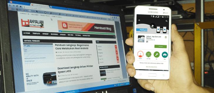 Download dan Install Aplikasi Helium di Android