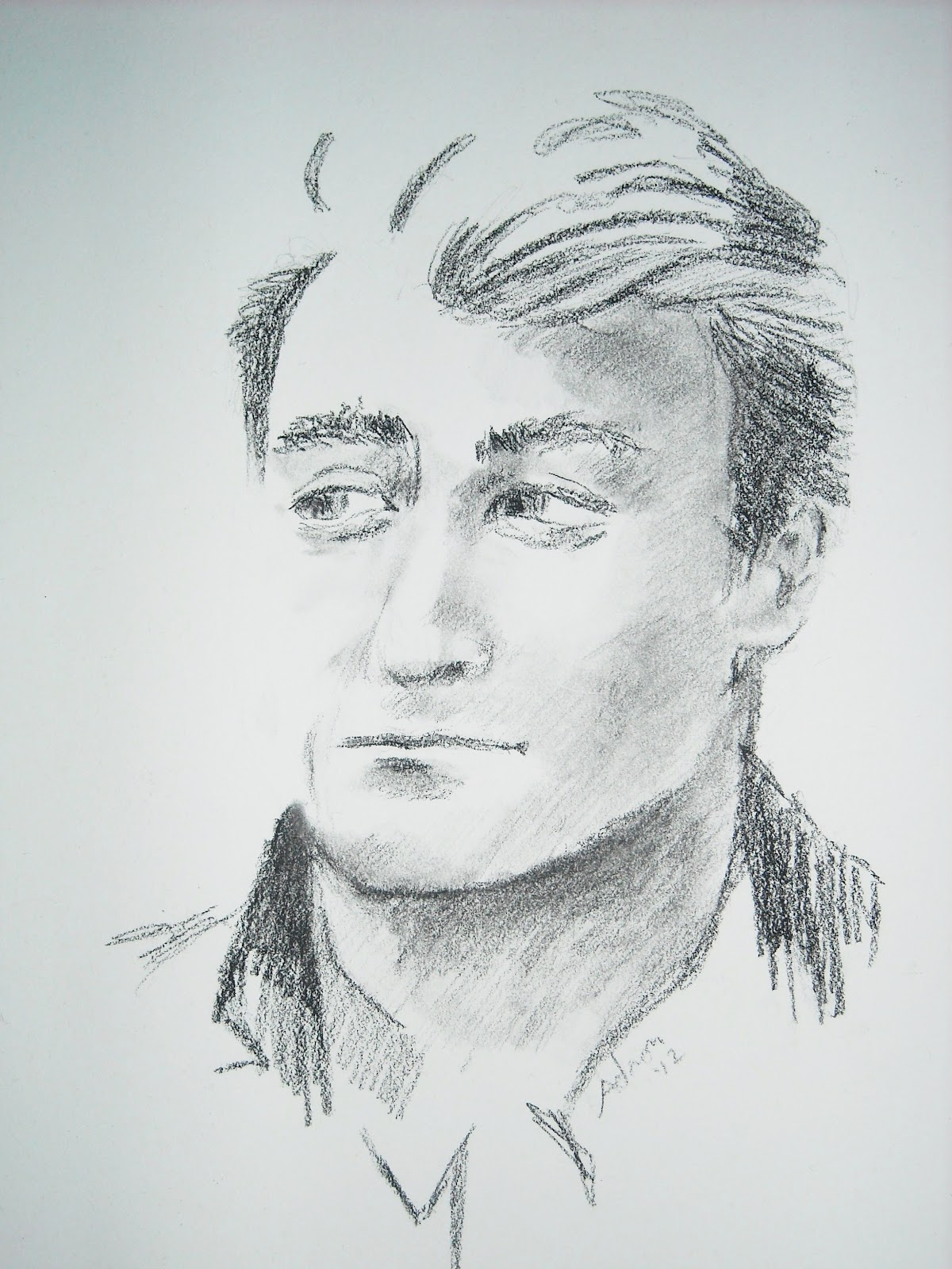 Portraits By Adron Quick Charcoal Sketch Of Man