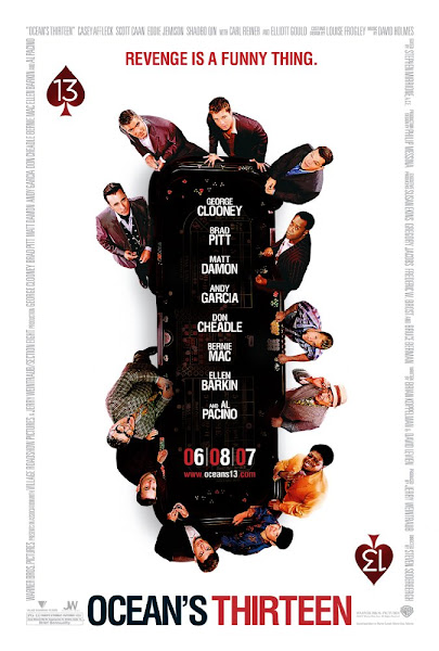 Poster Of Ocean's Thirteen 2007 720p Hindi BRRip Dual Audio Full Movie Download