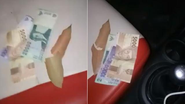 Sopir Taksi Online ini Benar-Benar Terkejut Setelah Lihat Uang Dari Penumpangnya Jadi Lembaran Coklat