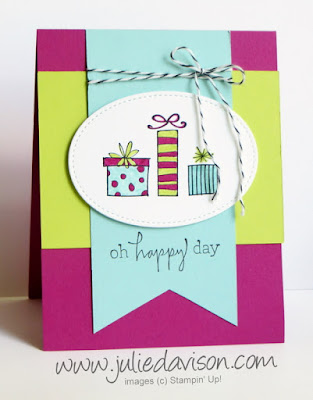 Stampin' Up! Happiest of Days Birthday Card for #GDP093 ~ 2017-2018 Annual Catalog ~ www.juliedavison.com