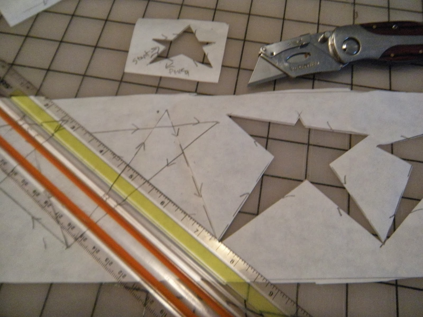 Paper Quilting Templates | Life In The Scrapatch Quilting With Freezer Paper Templates