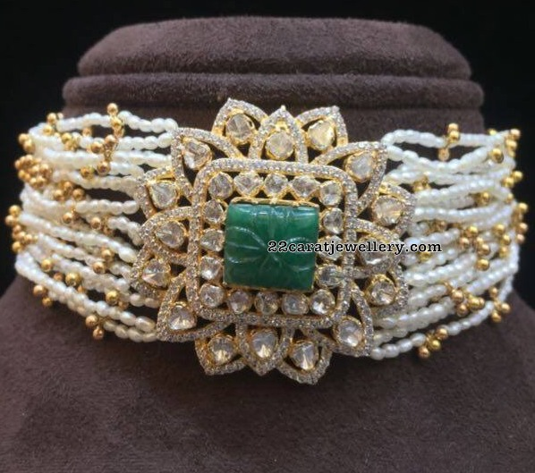 Latest Chokers by Amarsons Jewellers