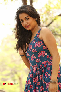 Actress Santoshi Sharma Pictures in Floral Dress at 4x4 Movie Opening  0115.JPG