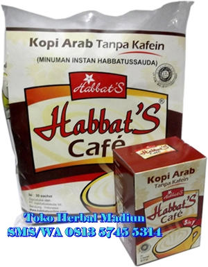 Jual Habbats Cafe Pack (isi 30 Sachet) Habbatussauda International di Madiun