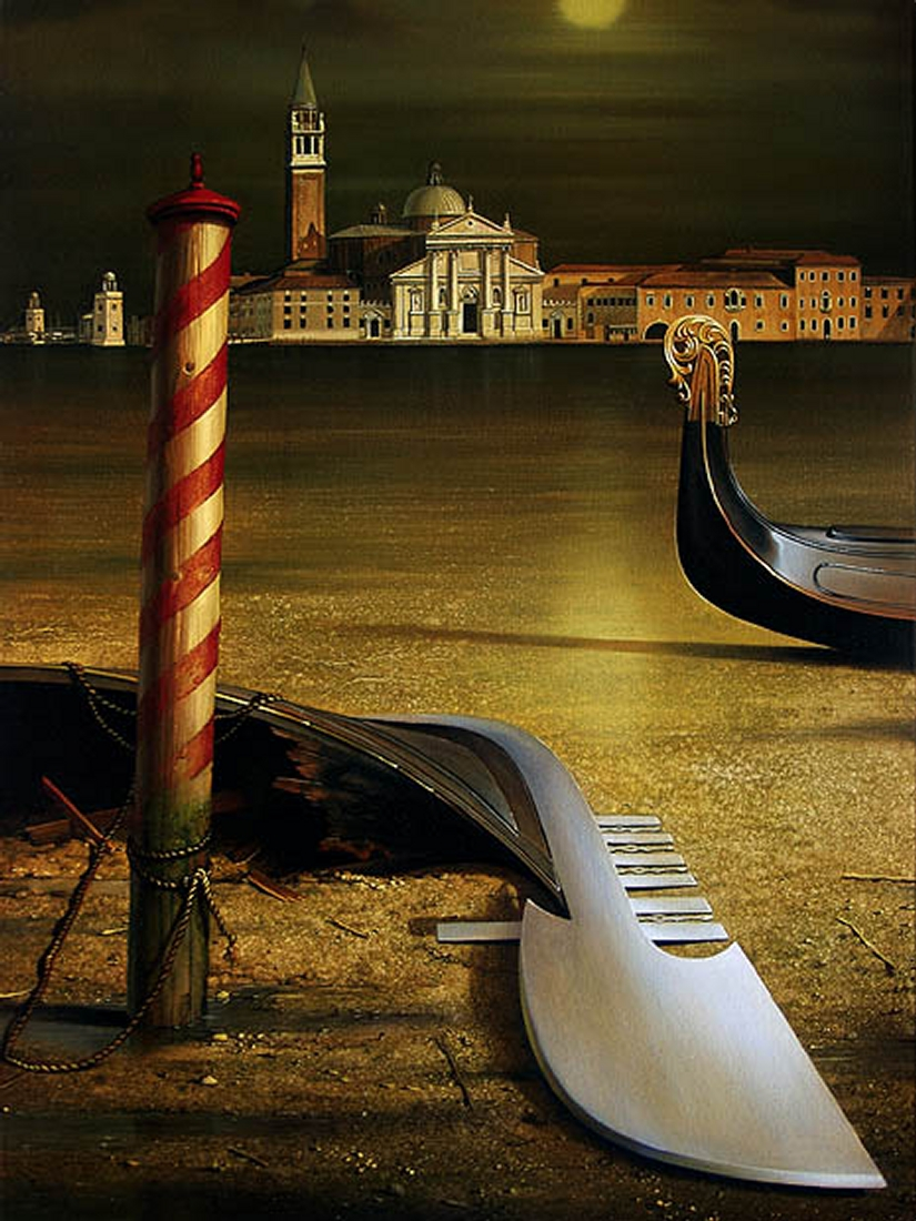 12-Venice-at-low-Tide-aqua-bassa-Siegfried-Zademack-Surreal-Oil-Paintings-that-tell-us-a-Story-www-designstack-co