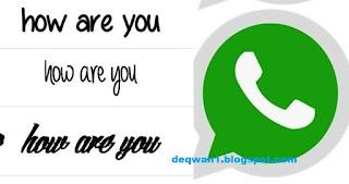 Cara Mengubah Huruf Chat Whatsapp