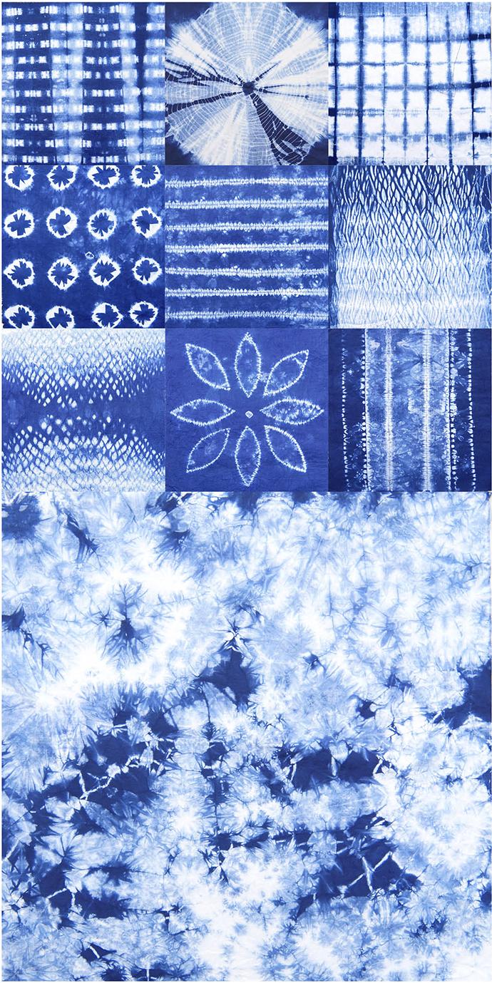 Ynas Design Blog | verschiedene Shibori Muster in der Übersicht
