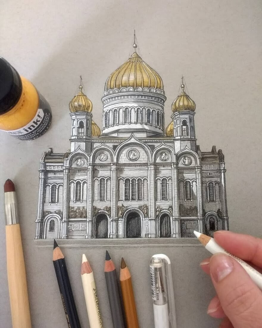 08-Russia-Moscow-Demi-Lang-Architectural-Drawings-of-Interesting-Buildings-www-designstack-co