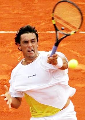 Foto de Mariano Puerta en la cancha de tenis
