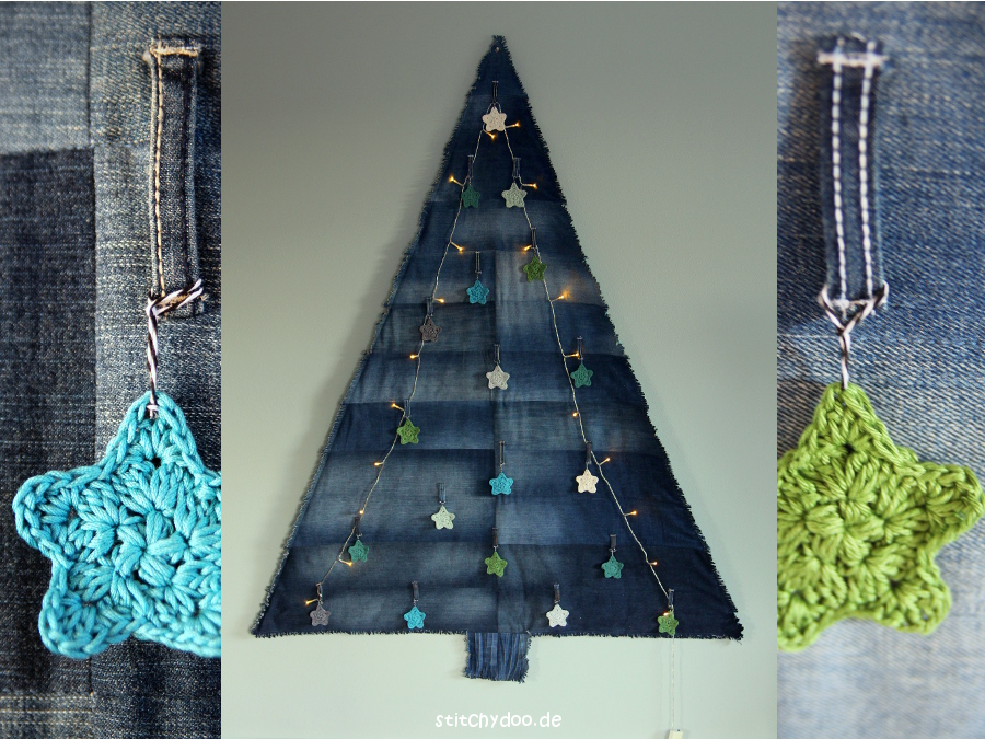 stitchydoo jeans recycling weihnachtsbaum ber die. Black Bedroom Furniture Sets. Home Design Ideas