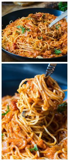 A fast and flavorful Spicy Tomato Cream Pasta that's perfect for a weeknight meal. Red pepper flakes really give this sauce some heat.