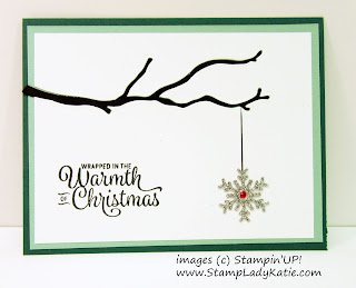 Card made with Stampin'UP!'s Seasonal Layers Thinlits showing the Inlay Technique by StampLadykatie