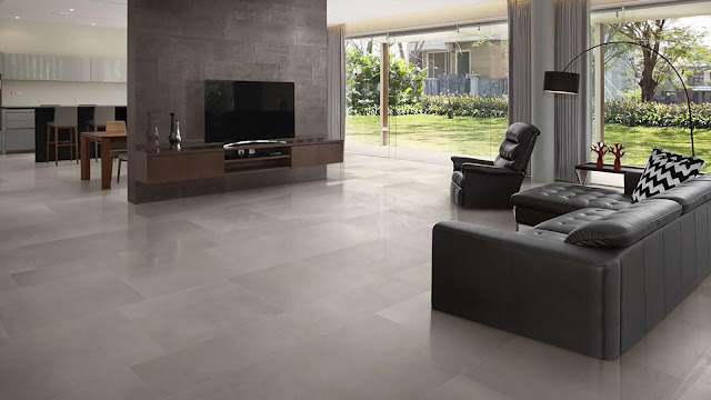 Color of tiles for flooring with color effects of Tecnolito collection