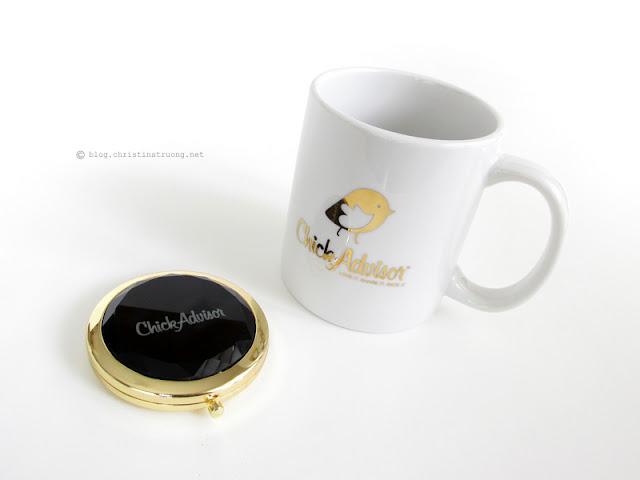 ChickAdvisor ShowCase Toronto 2016 - Event recap and products reviewed ChickAdvisor compact mirror and mug