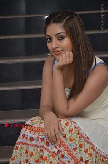 Telugu Actress Anu Emmanuel New Stills in Beautiful White Long Dress  0047.JPG