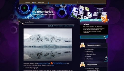 no boundaries education blue blogger template