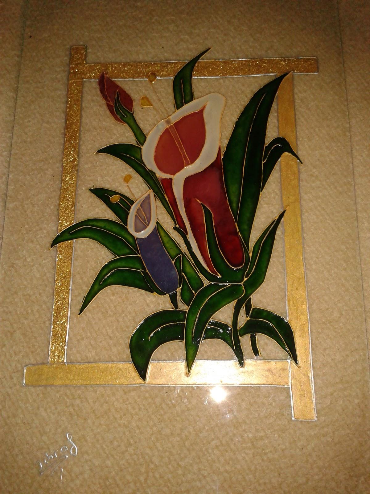 tableau vitrail ma cr ation peinture sur verre et porcelaine. Black Bedroom Furniture Sets. Home Design Ideas