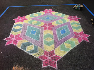 Geometric chalk art