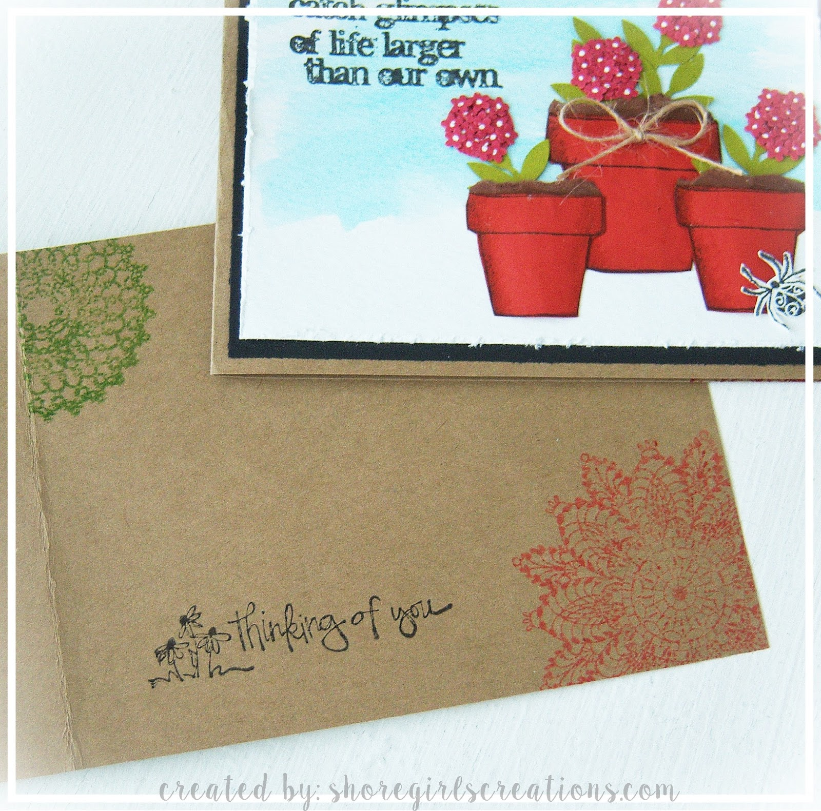 Hinge Vintage Photo Fired Brick Abandoned Coral Mowed Lawn Distress Ink Tim Holtz Burlap Twine Watercolor Paper Frond Punch Martha Stewart