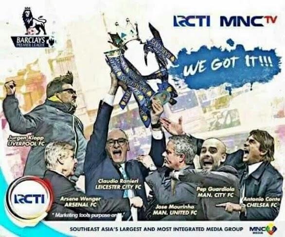 RCTI Resmi Akan Menayangkan Liga Inggris Musim 2016/2017