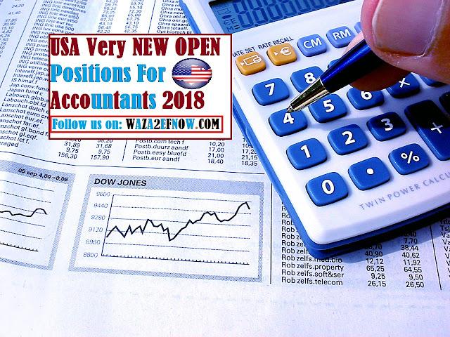 للمحاسبين 2018 USA Very NEW positions for Accountants | وظائف ناو