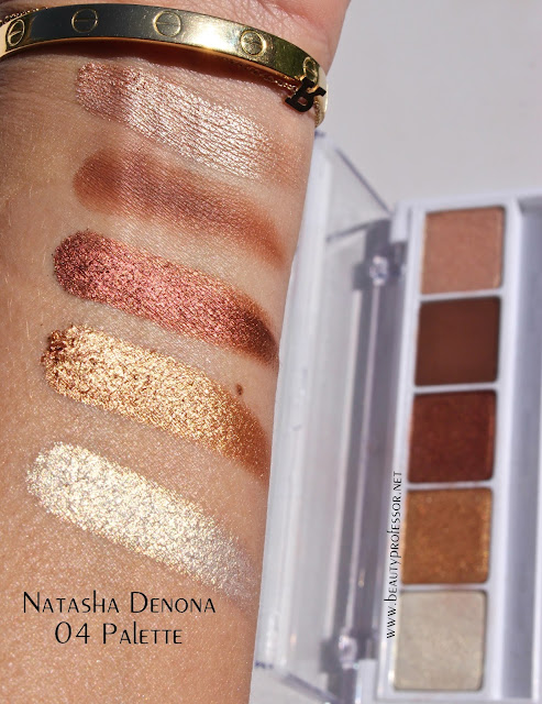 natasha denona eyeshadow swatches palette 04