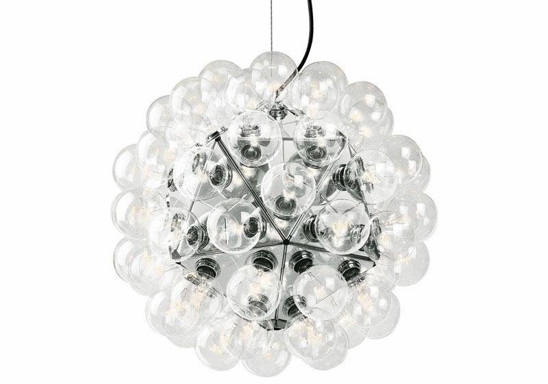 10 lámparas clásicas del diseño industrial, Lámpara de techo Taraxacum 88, Achille Castiglioni