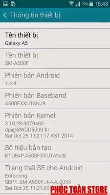 Tiếng Việt Galaxy A5 SM-A500F done alt