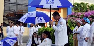 Huelga de médicos se cumple por segundo día consecutivo en hospitales públicos del país
