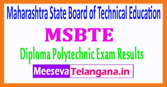 Maharashtra Diploma Polytechnic Exam MSBTE Results 2018