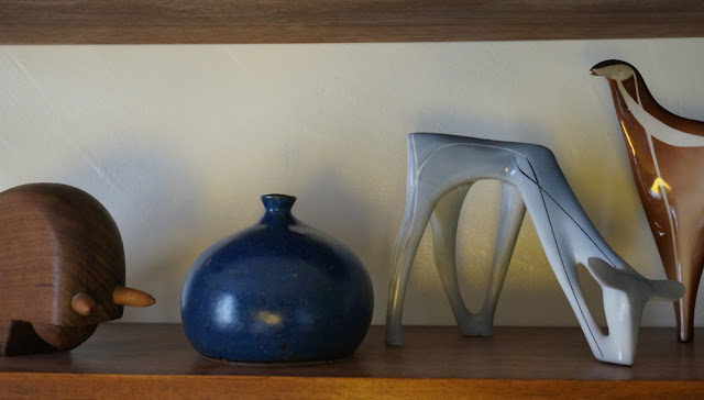 vintage blue ceramic bowl