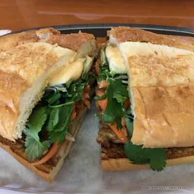 roast pork banh mi at Super Super in Berkeley, California