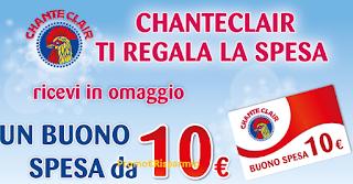 Logo Chanteclair ti regala la spesa con buoni acquisto da 10 euro