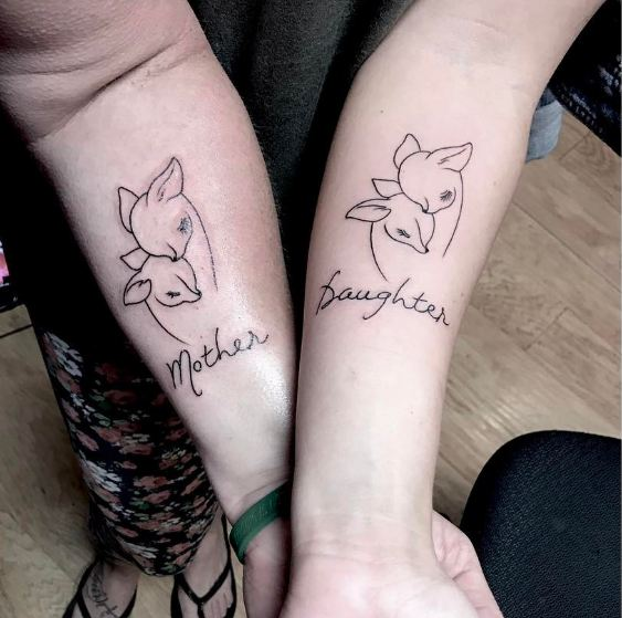50 meaningful mother daughter tattoos ideas 2018 for Mother and child tattoo