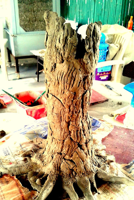 Tree Trunk Decoration Vase
