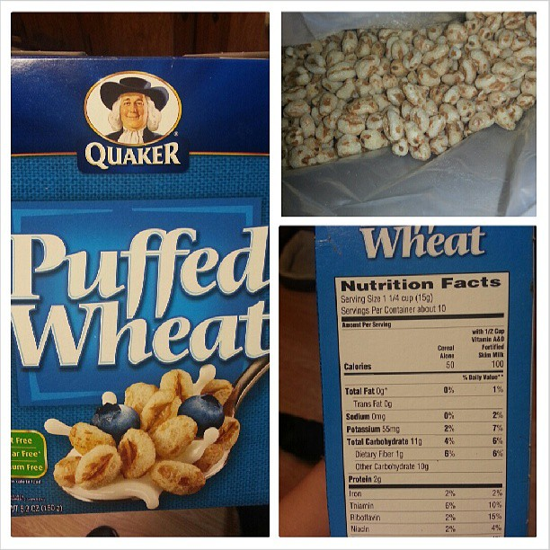 Shannon's Lightening The Load: Quaker Puffed Wheat Cereal