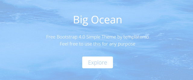 Ocean Bootstrap HTML5 Responsive Website Templates