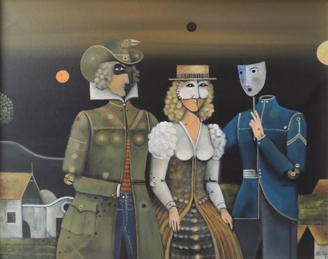 Eduard Alcoy cuadro surrealista personajes