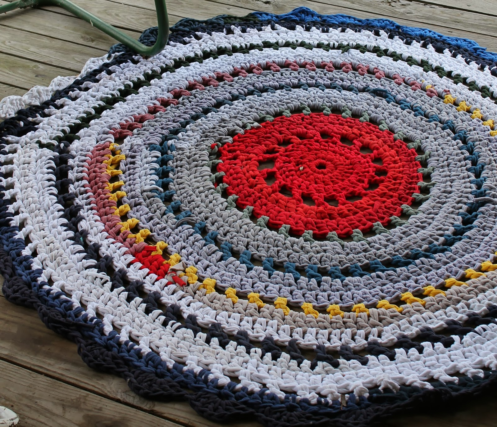Sweet Songs: Crafty Week Day #5 -- T-Shirt Rug