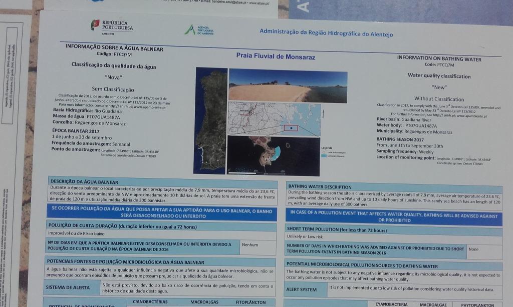Praia Fluvial de Monsaraz - Informação