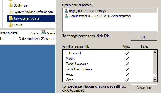 Tally User run as different user for data security
