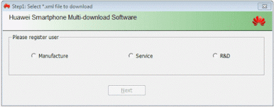 Huawei Board Firmware တင္ဖို႔ Huawei Smart phone Multi-download Software 1.0.0.2