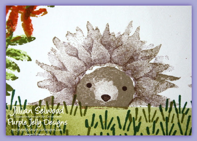 Cute Hedgehog card using Stampin' Up! Painted Harvest stamp set