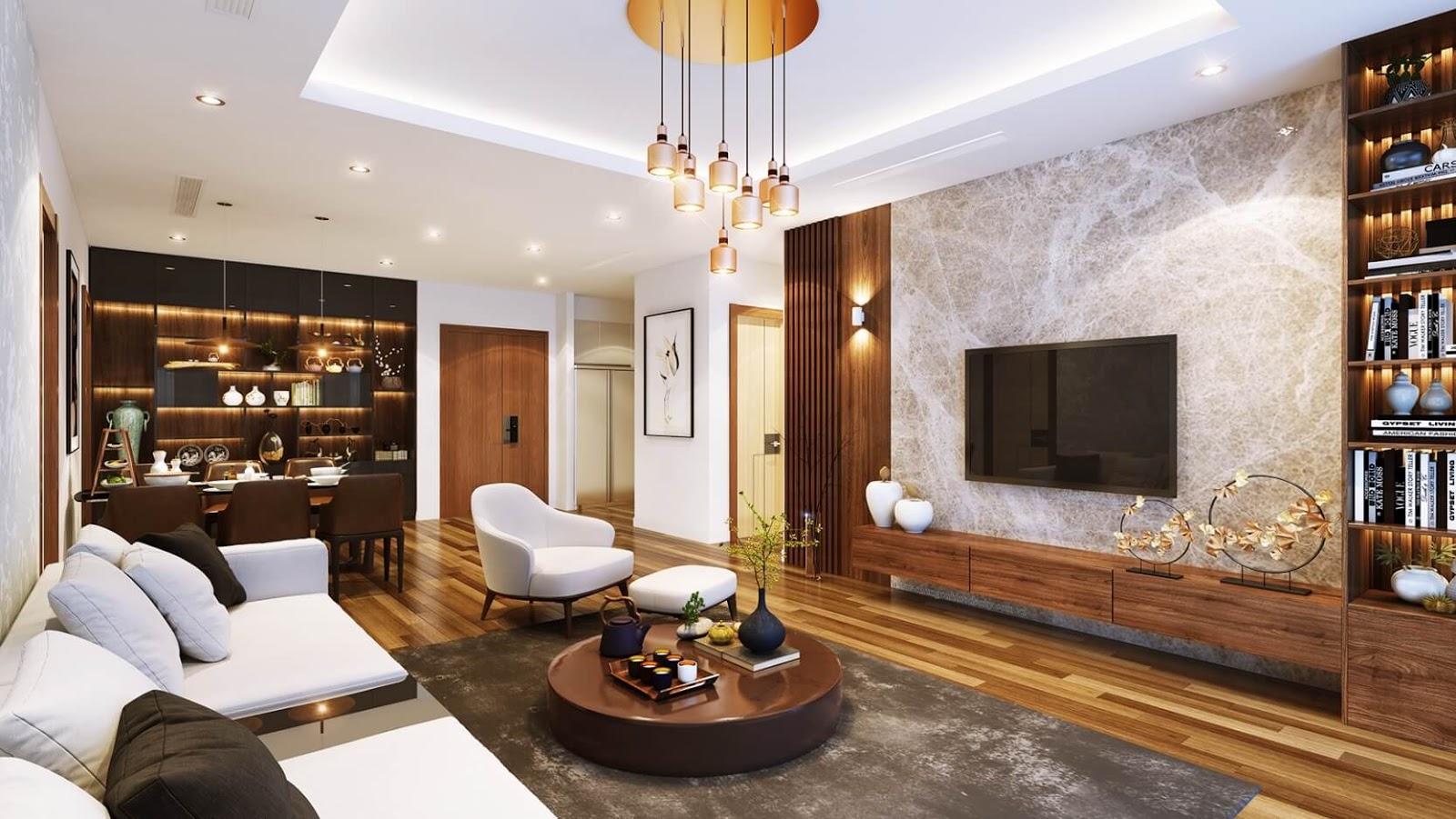Phòng khách căn hộ chung cư Hinode City