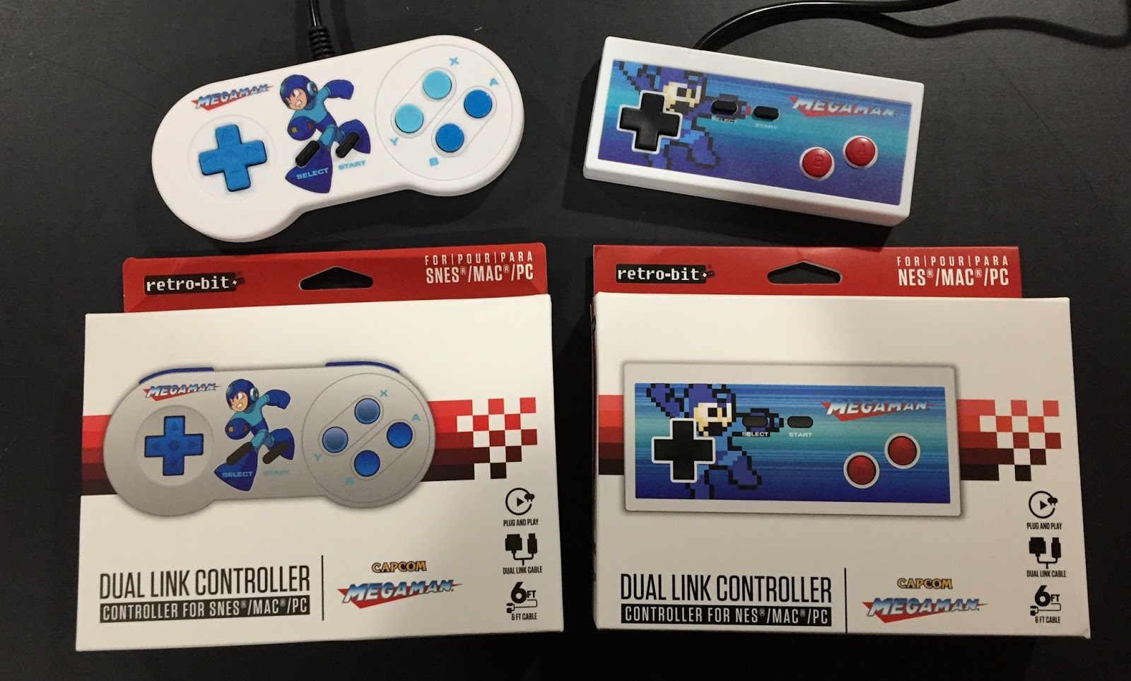 Retro Gamer Randomness: Review: Retro-Bit Dual Link Controllers